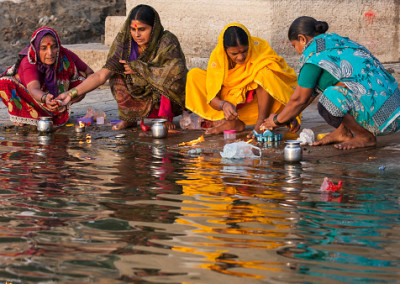 "Collecting ""Ganga Jala"" - holy water"